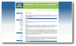 Website van Joop Letteboer